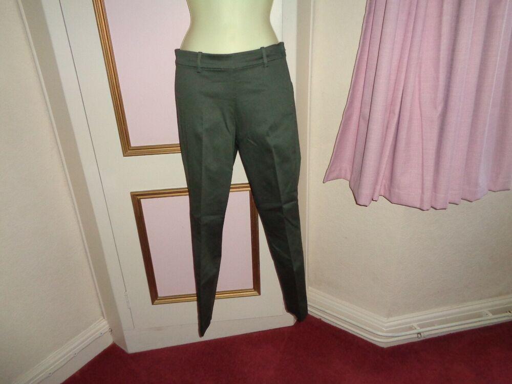 """Enthousiaste H&m Super Stretch Pantalon Longueur Cheville Slim Leg Satin Look Taille 8 ~~ 28""""l Bnwt Une Gamme ComplèTe De SpéCifications"""