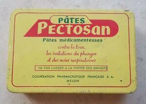 Ancienne-boite-Metal-Pectosan-Pates-medicamenteuses-toux-pharynx-Pharmacie