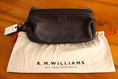 Bello R.m. Williams Genuine Leather Rare Toilet Bag Originale * Nwt Pelle Borsa Cultura-mostra Il Titolo Originale Ineguale Nelle Prestazioni