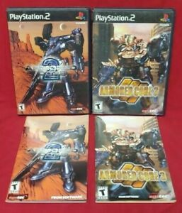 Armored-Core-2-3-PS2-Playstation-2-Case-Manual-Cover-Art-ONLY-NO-Games