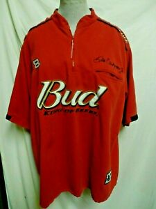 Chase-Authentics-XL-Dale-Earnhardt-Jr-Budweiser-Red-Nascar-Line-Zippered-Shirt