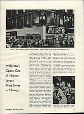 1949 Paper AD Chicago Walgreens Drug Store Miss Illinois Trudy Germi Article