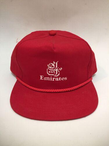 Vintage Emirates Airline Snapback Hat Red