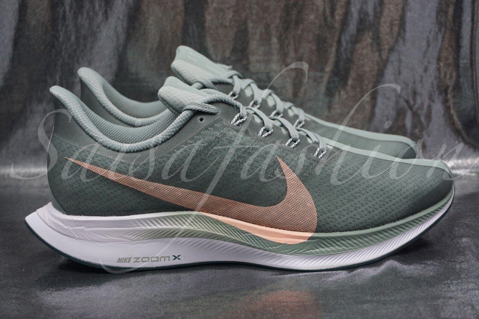 Nike Wmns Zoom Pegasus 35 Turbo Mica Green Light Silver Womens AJ4115-300 Sz 9