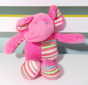 Lily-and-George-Pink-Elephant-Plush-Toy-w-Rattle-Inside-20cm-Tall