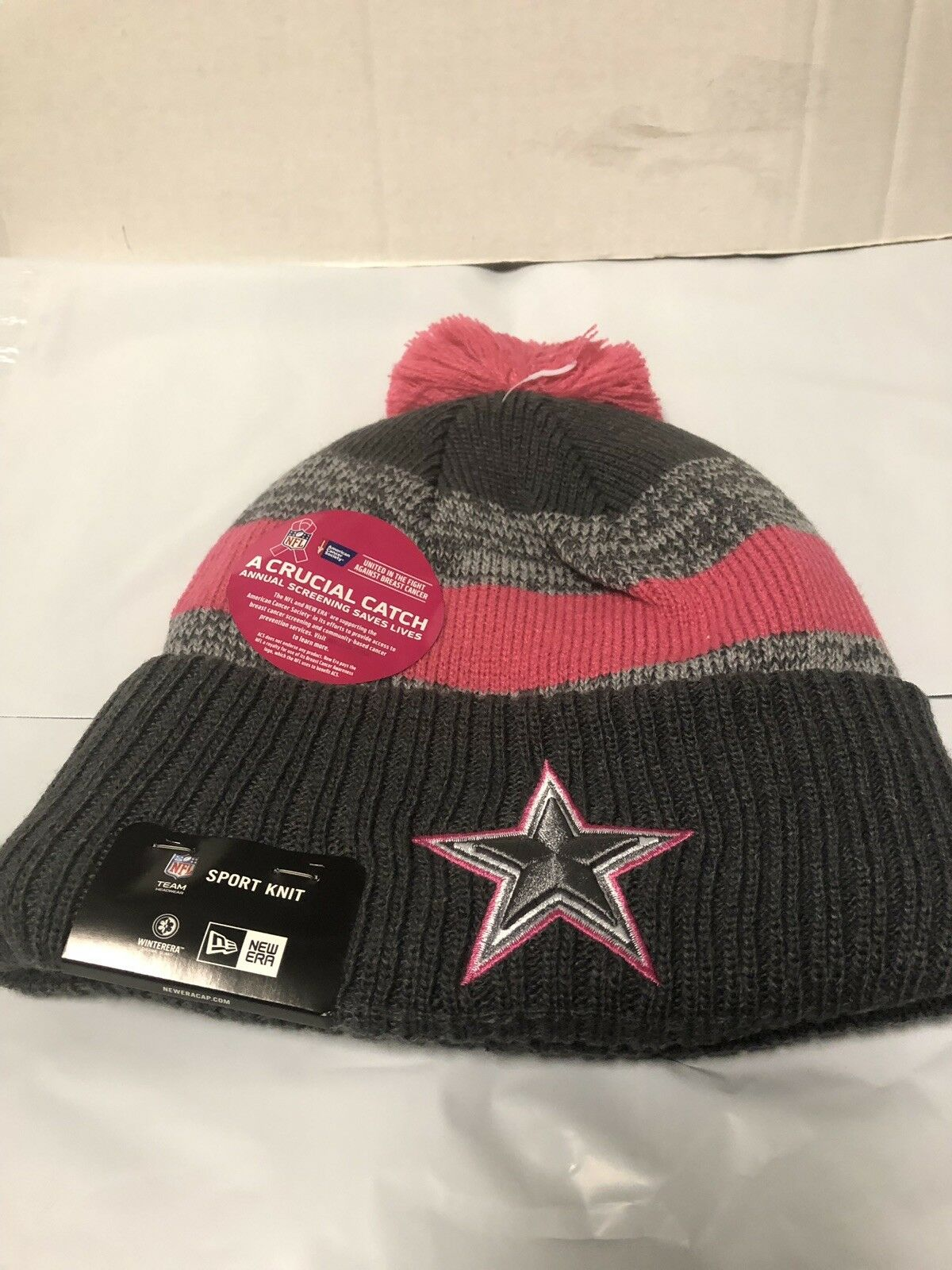 Dallas Cowboys Era Breast Cancer Awareness BCA 2016 NFL Sports Knit Hat for  sale online  c06db9a14