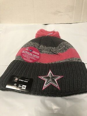 the latest f2953 c3113 Dallas Cowboys Era Breast Cancer Awareness BCA 2016 NFL Sports Knit Hat