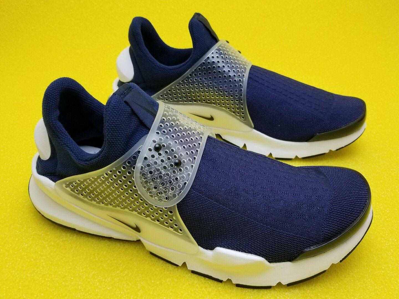 Nike Sock Dart Mens Running Shoes 9 Midnight Navy White Black Grey 819686 400
