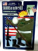 Soldiers World Vietnam War Color Guard 12 Military Figure Outfit Accessory Set