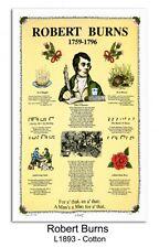 Robert Burns//Cotton/Tea Towel/Scottish/McCaw Allan / Samuel Lamont/New