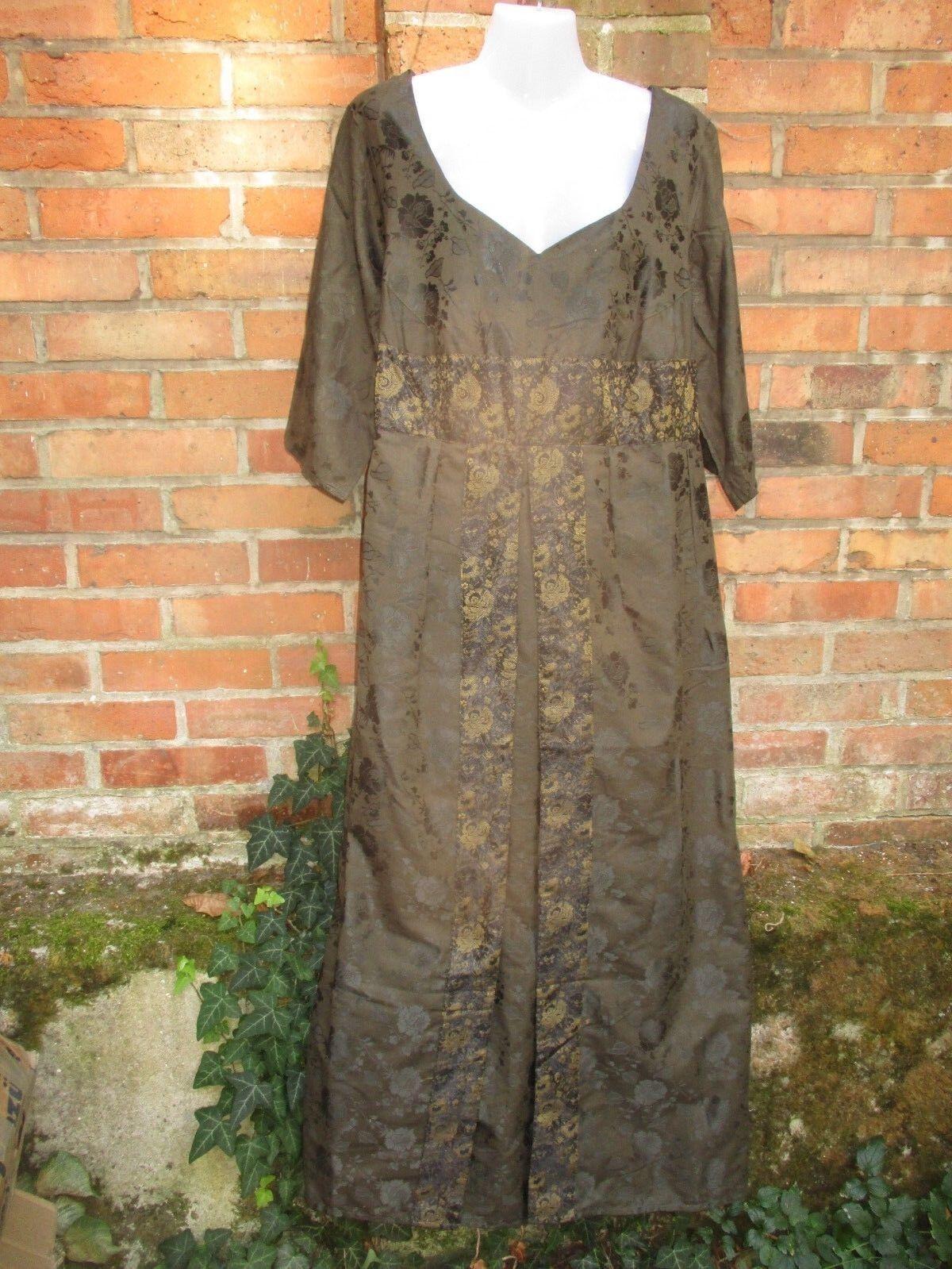 Kleid Mittelalterkleid XXL Hippie ethno Mittelalter grün Gewand Kostüm Festival