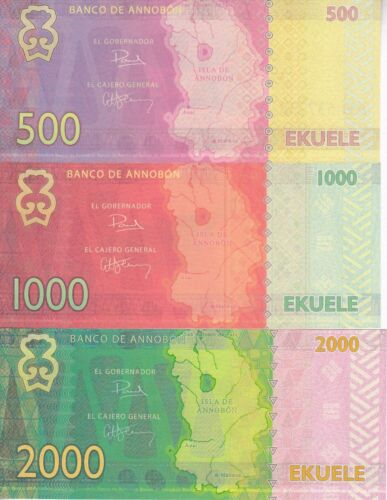 LOT 5 SETS Annobon set 5 banknotes 2013 UNC private issue