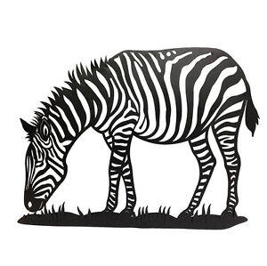 Image Is Loading VEGA ZEBRA WALL ART METAL CLEAR ANIMAL DECOR