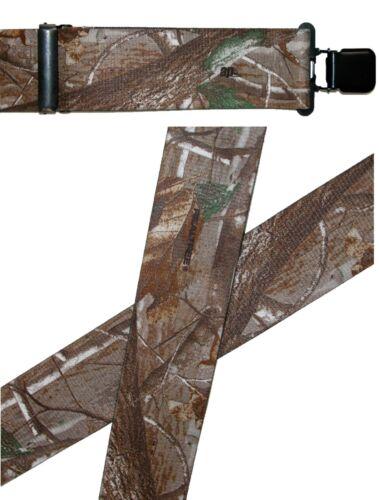Nouveau Realtree Homme Élastique Clip-End 2 in environ 5.08 cm Camouflage Bretelles Usa Made