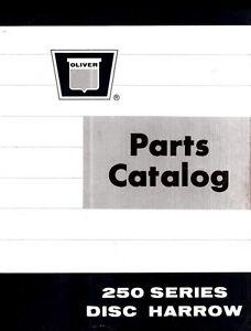 Oliver-250-Series-251-252-253-Disc-Harrow-Parts-Manual