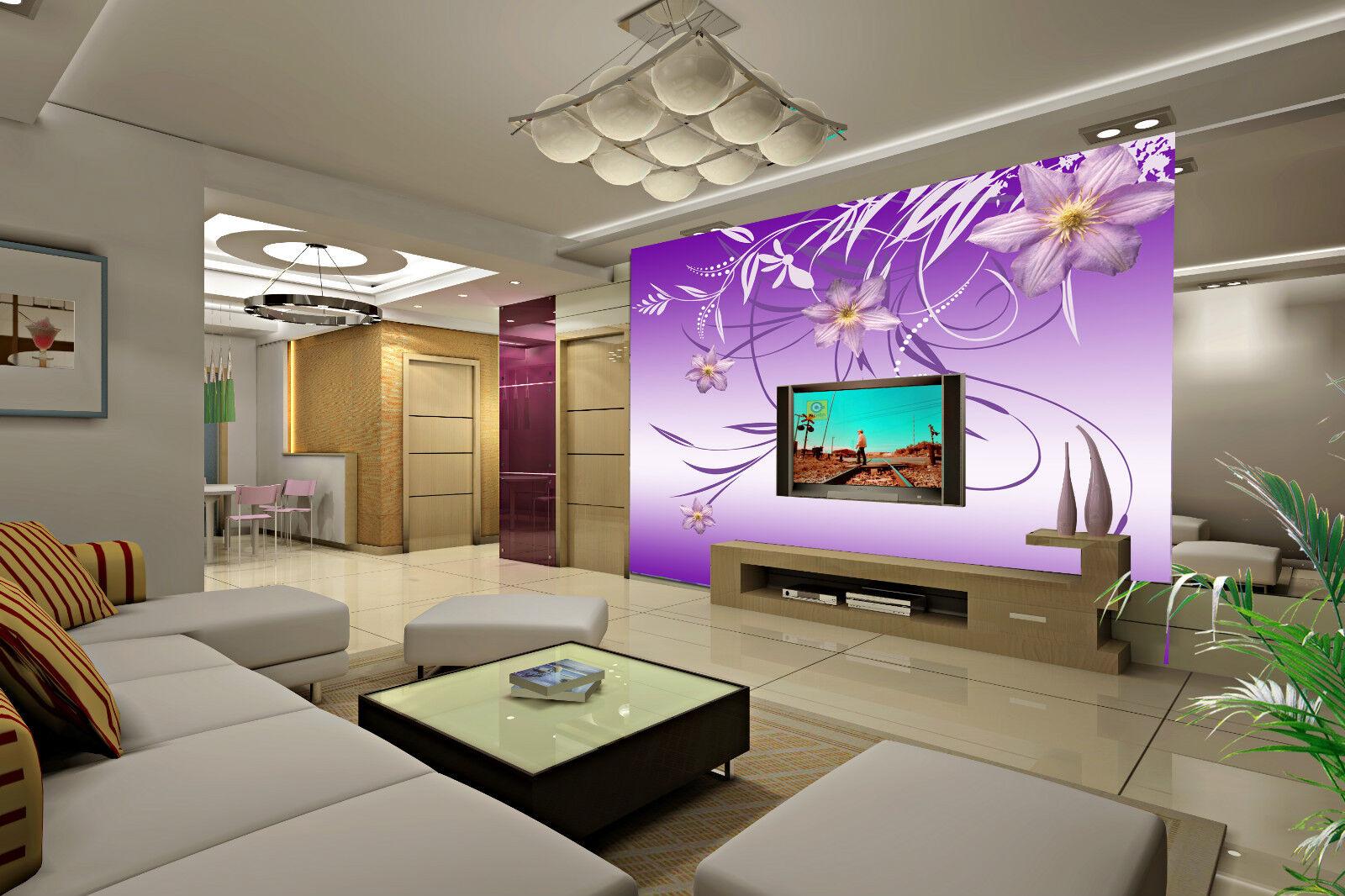 3D lila pattern 2 Wall Paper Murals Wall Print Print Print Decal Wall Deco AJ WALLPAPER 4742e5