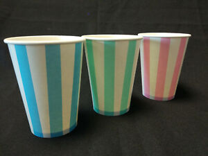 Candy Stripe Paper Cups Disposable Milkshake 8oz 12oz 16oz 20oz Paper Cups Ebay
