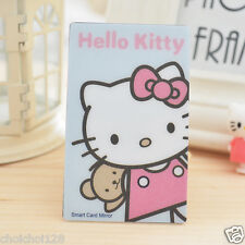 Hello Kitty Credit Card Size Mirror For Make Up , Pocket, Wallet KK420