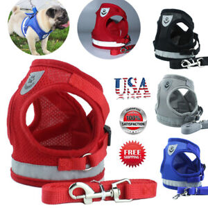 Pet-Control-Harness-for-Dog-amp-Cat-Soft-Mesh-Walk-Collar-Safety-Strap-Vest-NEW