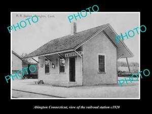 OLD-LARGE-HISTORIC-PHOTO-OF-ABINGTON-CONNECTICUT-THE-RAILROAD-DEPOT-c1920