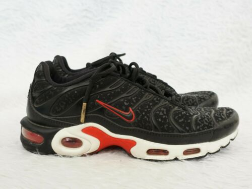 Nike Womens Air Max Plus TN 'Black Red' Sneakers S