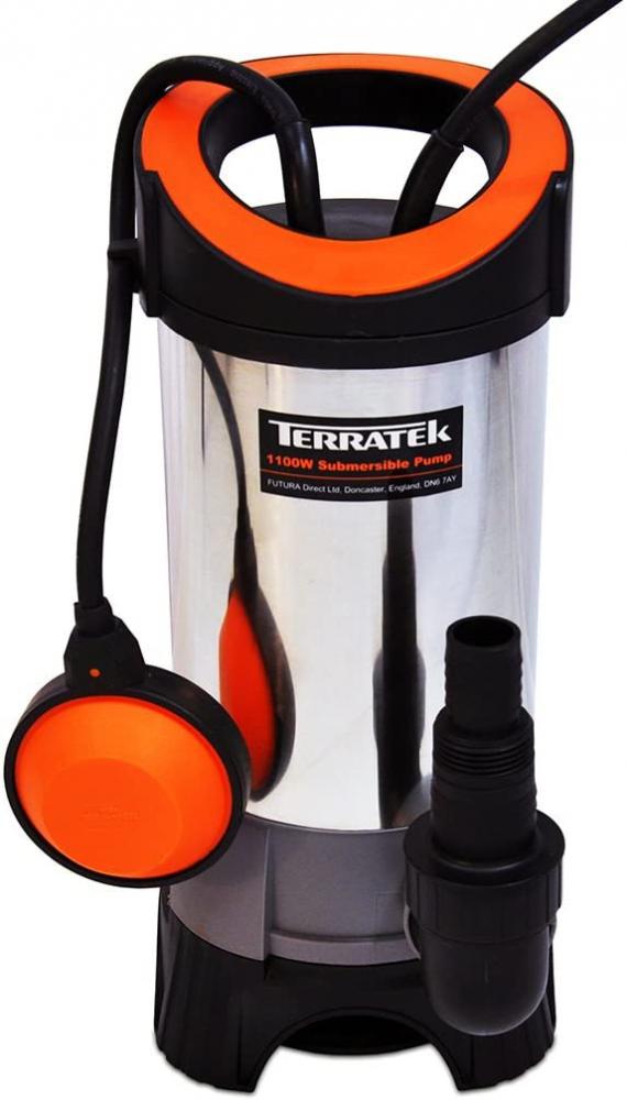 Terratek Submersible Water Pump 1100W - Heavy Duty, Dirty Waste Water