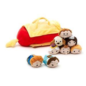 Disney Store Beauty The Beast Bag Carry Case Mini Tsum Tsum Soft