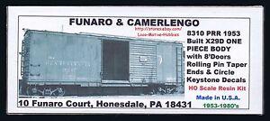 Funaro-F-amp-C-8310-PENNSYLVANIA-X29D-PRR-Boxcar-8-039-Doors-Rolling-Pin-Taper-End-1-PC