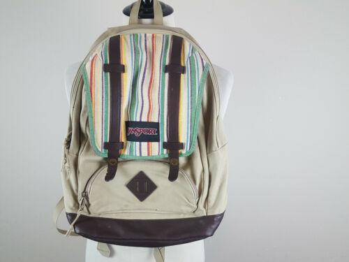 Vintage Jansport Multi Color Stripe Snap Straps Ba