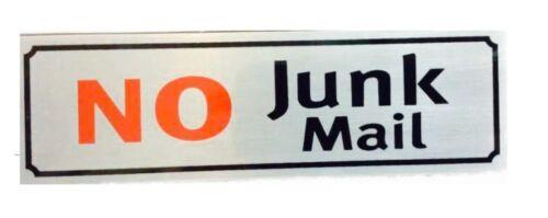 No junk mail signe autoadhésif métal autocollant porte mur indésirables mail letter box