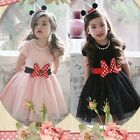 Flower Girl Princess Bow Dress Toddler Wedding Pageant Party Tulle Dresses 3T-7