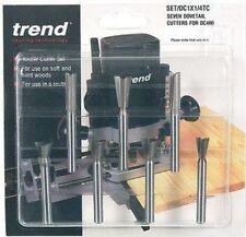 Trend SET/DC1X1/4TC 7 piece dovetail Centre cutter set