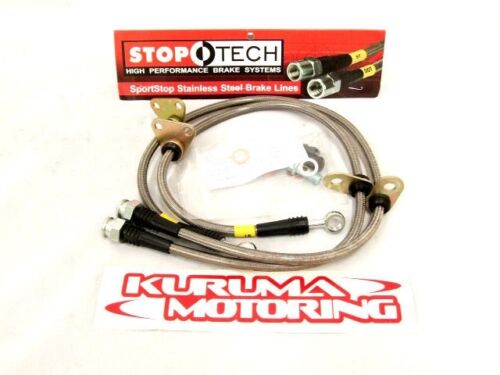 STOPTECH STAINLESS STEEL BRAKE LINES FRONT PAIR 950.65004