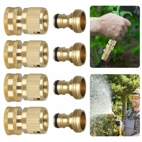 Connector Set Brass Garden Hose Quick Connect Water Hose Fit Female Male 3//4/'