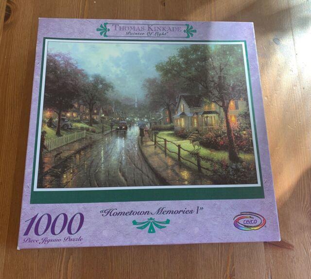 """Thomas Kinkade """"Hometown Memories 1"""" 1000 Pc Puzzle NIB Ceaco"""