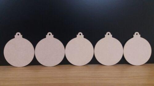 Mdf 4 mm Navidad Adorno 10 cm CNC Bauble anuncio de varios