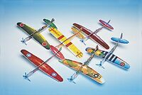 12 Assorted 8 Foam Wwii Airplane Gliders Party Favors 5/9