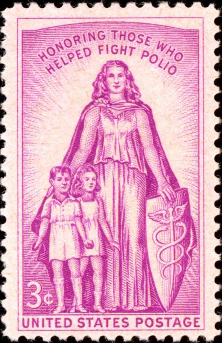 1957 3c March of Dimes, Fight Polio Scott 1087 Mint F/V