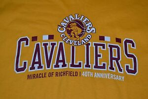 Cleveland-Cavaliers-Miracle-Of-Richfield-70s-Logo-Throwback-T-Shirt-XL-Nice-NBA