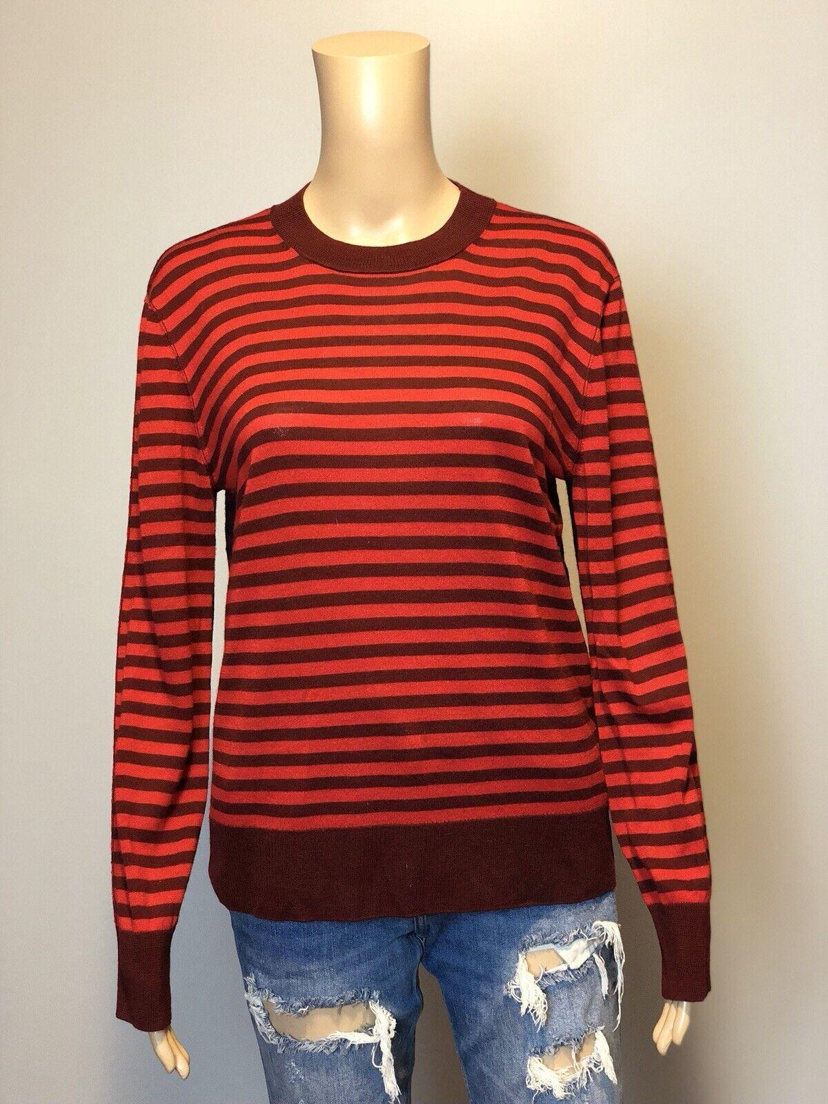 Crew Wool Stripe rot Rykiel By SONIA Sweater Sonia M SZ
