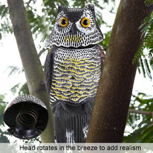 Image Is Loading Realistic Owl Decoy Rotating Head Sound Repellent Pest
