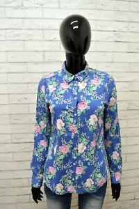 Camicia-BENETTON-Donna-Taglia-S-Maglia-Blusa-Camicetta-Shirt-Woman-Slim-a-Fiori