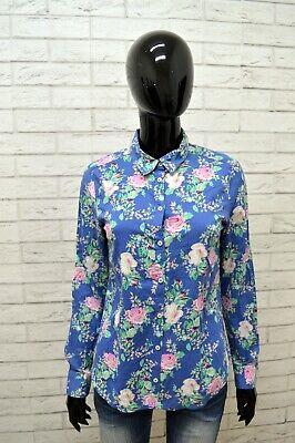 Camicia Benetton Donna Taglia S Maglia Blusa Camicetta Shirt Woman Slim A Fiori