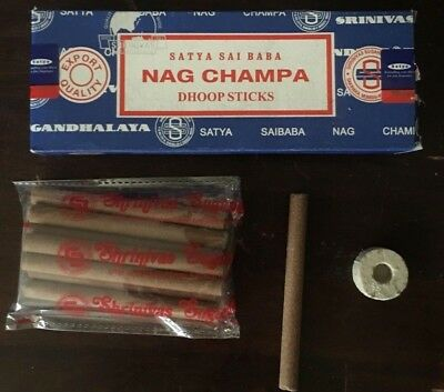 1 or 3 x 10pc Packs Dhoop Incense Sticks Cones SATYA Nag Champa Super Hit  Bulk