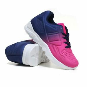 BOYS RUNNING TRAINERS KIDS SHOCK ABSORBING SPORTS CASUAL SCHOOL SHOES UK SIZE
