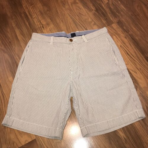 PREP /& PLAID See pics for conditions A jcrew flat front green grey  canvas short in 33 Vintage shorts for men