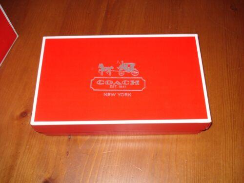 "Red Coach Paper Gift Box 10/"" X 6/"" X 2.5/"""