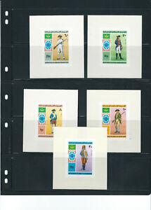 Mauritania-1976US-Bicentennial-Completo-Conjunto-de-5-Lujo-sin-Perforar-Hojas