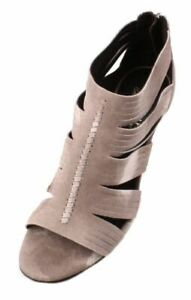 Donald-J-Pliner-Thora-Womens-Taupe-Resort-Suede-Open-Toe-Strappy-Heels-size-10