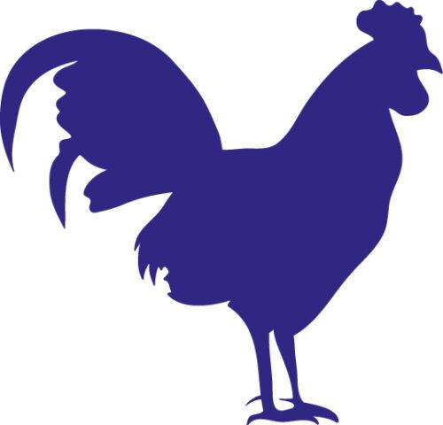 Window Wall Display Rooster Chicken Bird Silhouette Decal Vinyl Sticker Craft
